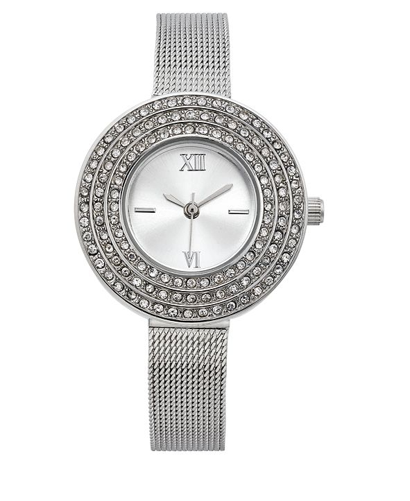 Charter Club Women's Silver-Tone Bracelet Watch 28mm, Created for Macy's