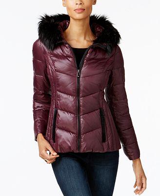 i n c faux fur trim puffer coat created for macy s coats