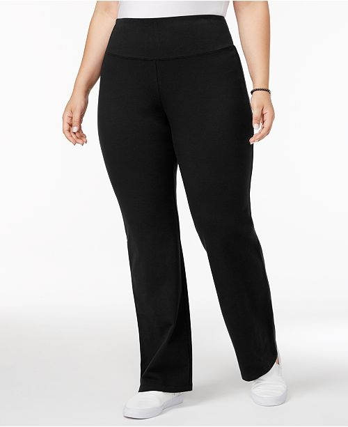 cute cheap run shoes footwear Plus Size Tummy-Control Bootcut Yoga Pants, Created for Macy's