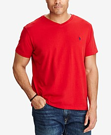 Men's Big and Tall Classic-Fit V-Neck Short-Sleeve  Jersey T-Shirt