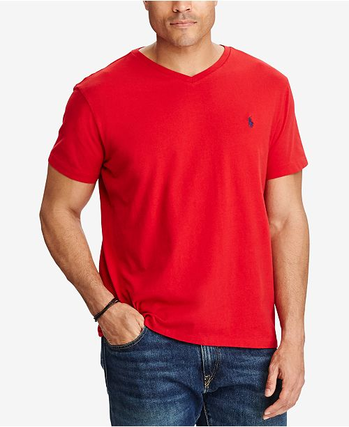aab13cf05 ... Polo Ralph Lauren Men's Big and Tall Classic-Fit V-Neck Short-Sleeve ...