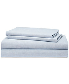Lauren Ralph Lauren Graydon Cotton 4-Pc. Melange Full Sheet Set