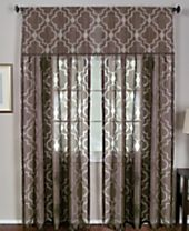Elrene Montego Sheer Burnout Window Treatment Collection