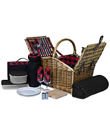 Picnic Time Somerset Red Picnic Basket