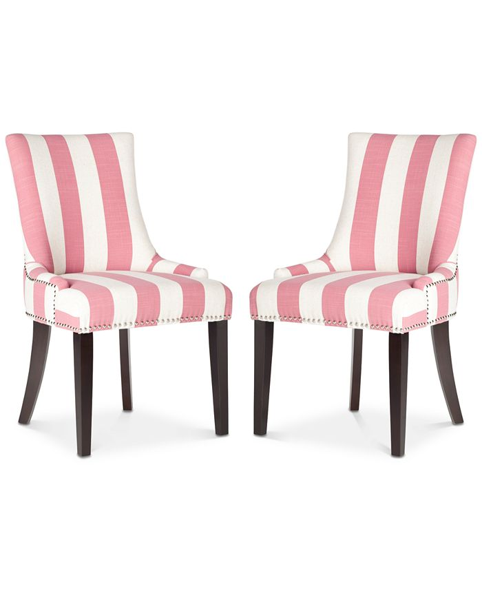 Safavieh - Lester Awning Stripes Dining Chair (Set Of 2), Quick Ship
