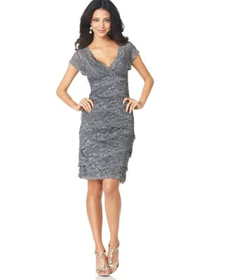 Marina Cap-Sleeve Lace Dress - Dresses - Women - Macy\'s
