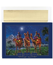 Masterpiece Studios Wise-men At Night Set Of 16 Boxed Holiday Greeting Cards With Envelopes