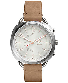Fossil Q Women's Accomplice Sand Leather Strap Hybrid Smart Watch 38x40mm