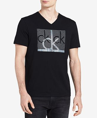 Calvin klein jeans men 39 s big and tall repeat logo print t for Big and tall printed t shirts