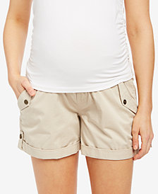 Motherhood Maternity Twill Cuffed Shorts