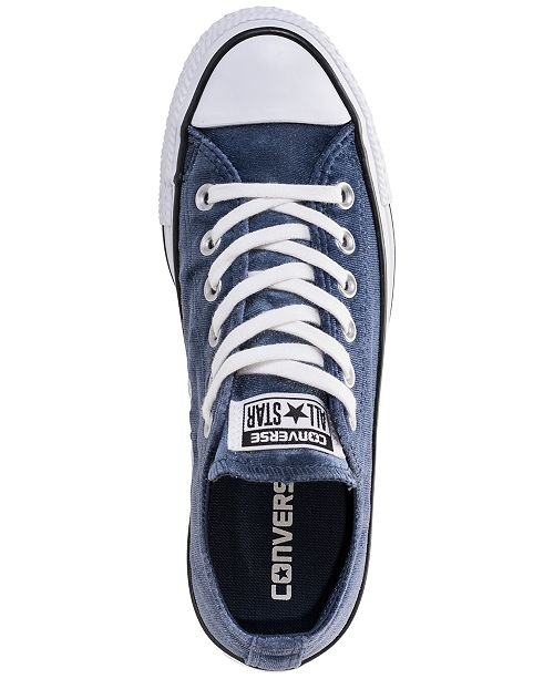 8fc155cdfc5218 ... Converse Women s Chuck Taylor Ox Velvet Casual Sneakers from Finish ...