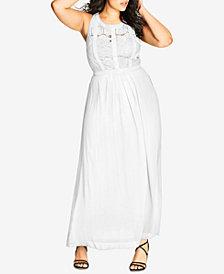 City Chic Plus Size Sleeveless Maxi Dress
