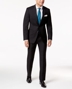 Calvin Klein Men's Extra-Slim Fit Black Solid Suit thumbnail