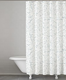 Cassadecor Fern Cotton Shower Curatain