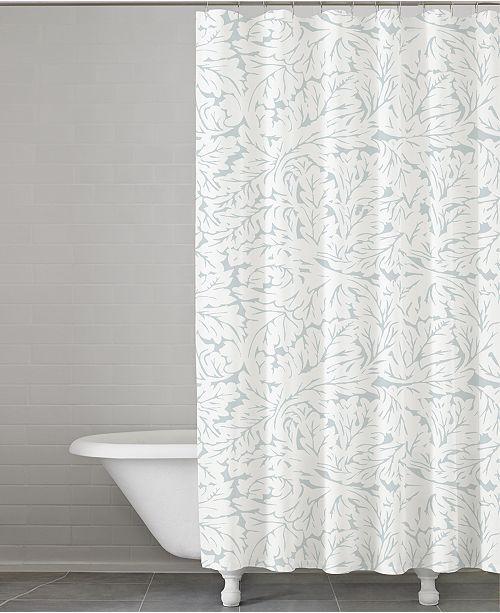 Kassatex Foglia Cotton 72 Square Shower Curtain