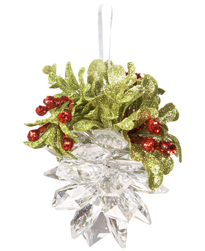 Ganz Kissing Krystals Mistletoe & Pinecone Ornament