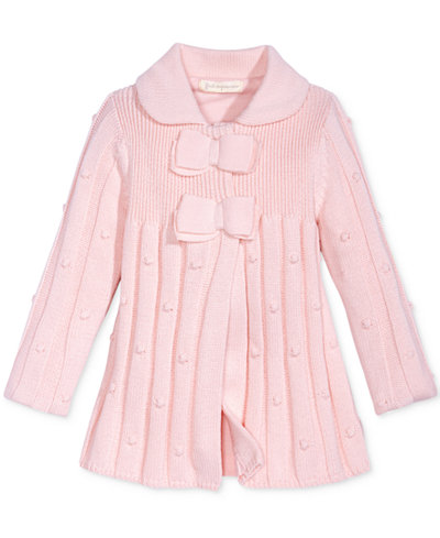 First Impressions Bow-Detail Sweater Coat, Baby Girls (0-24 months ...