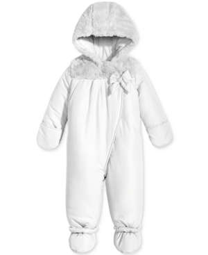 First Impressions Footed Snowsuit with Faux Fur Trim Baby Girls (024 months) Created for Macys