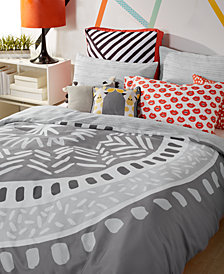 Scribble Reversible 2-Pc. Medallion Twin Comforter Mini Set