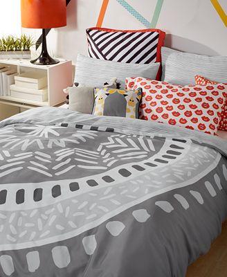 Scribble Reversible 3-Pc. Medallion Full/Queen Comforter Mini Set