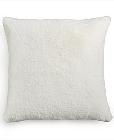 "Hotel Collection Trousseau Faux-Fur 20"" Square Decorative Pillow, Created for Macy's"