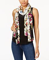 I.N.C. Floral-Print Wrap & Scarf in One, Created for Macy's