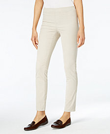 Karen Scott Petite Corduroy Pull-On Pants, Created for Macy's