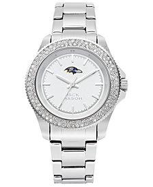 Jack Mason Women's Baltimore Ravens Glitz Sport Bracelet Watch