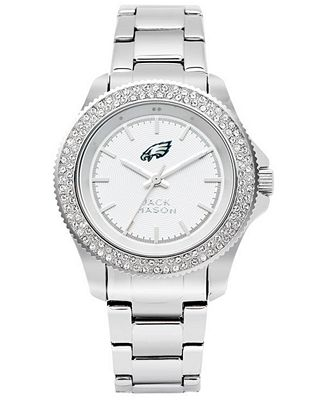 Jack Mason Women's Philadelphia Eagles Glitz Sport Bracelet Watch