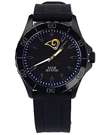 Jack Mason Men's Los Angeles Rams Sport Silicone Strap Watch