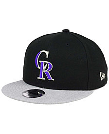 New Era Boys' Colorado Rockies Heather Vize 9FIFTY Snapback Cap
