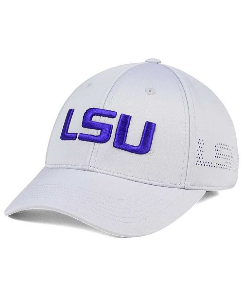 Top of the World LSU Tigers Light Gray Rails Flex Cap