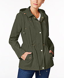 Charter Club Petite Anorak Rain Jacket, Created for Macy's