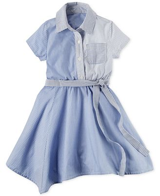 Carter's Striped Handkerchief Hem Cotton Dress, Little Girls (4-6X ...