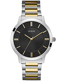 GUESS Men's Two-Tone Stainless Steel Bracelet Watch 44mm
