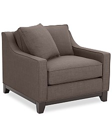 "Keegan 37"" Fabric Armchair, Created for Macy's"