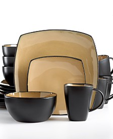 Signature Living Barcelona Taupe 16-Pc. Set, Service for 4