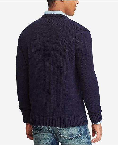 Polo Ralph Lauren Men S American Flag Cotton Sweater