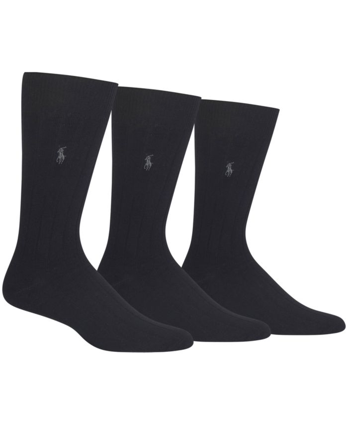 Polo Ralph Lauren 3 Pack Cotton Rib Casual Men's Socks & Reviews - Underwear & Socks - Men - Macy's