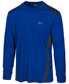 Greg Norman For Tasso Elba Men's Pieced Performance Long-Sleeve T-Shirt, Created for Macy's
