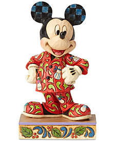 Jim Shore Mickey in Christmas Pajamas Figurine