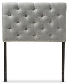 Viviana Faux Leather Upholstered Button-Tufted Twin Headboard, Quick Ship
