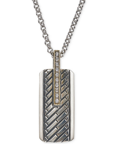 Esquire mens jewelry diamond dog tag pendant necklace 110 ct esquire mens jewelry diamond dog tag pendant necklace 110 ct tw mozeypictures Images