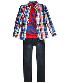 Tommy Hilfiger Plaid Shirt, T-Shirt & Jeans Separates, Little Boys & Big Boys