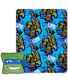 Northwest Company Nickelodeon's Teenage Mutant Ninja Turtles 3D Pillow and Throw Set