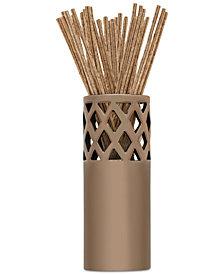 Joy Mangano Forever Fragrant 20-Count Fresh Linen Sticks & Vase
