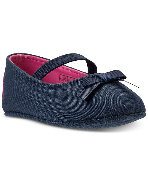 c1b0b90bf4 Polo Ralph Lauren Baby Girls' Penelope Layette Crib Ballet Shoes ...