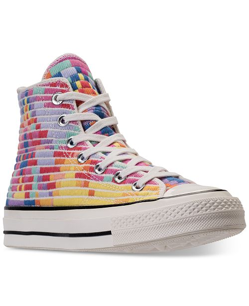 5beb9d70718b ... Converse Women s Chuck Taylor All Star 70 High-Top Mara Hoffman Casual  Sneakers from Finish ...