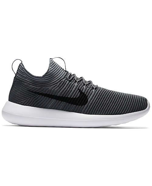 55a057d2c535c Nike Men s Roshe Two Flyknit V2 Casual Sneakers from Finish Line ...