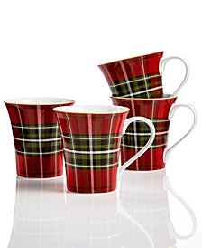 222 Fifth Wexford Plaid 4-Pc. Mug Set